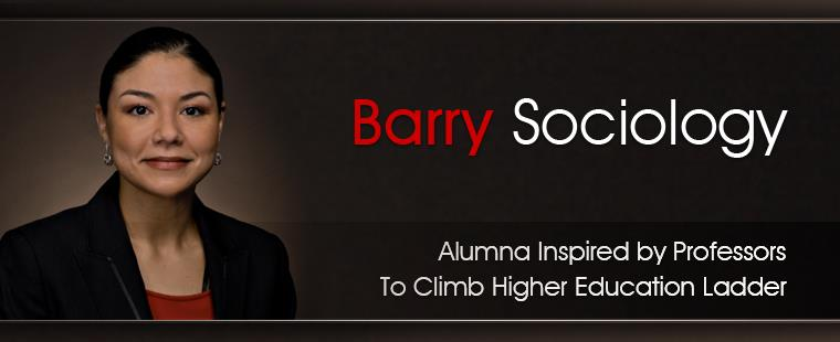 Barry sociology alumna inspired by professors to climb higher education ladder