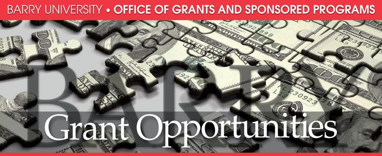 Grant opportunities for the week of October 7, 2013