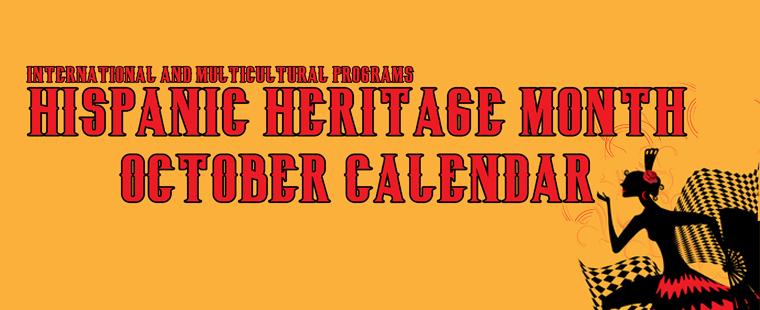 Hispanic Heritage Month Calendar