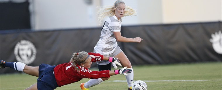 Women's Soccer Spears Sharks To Grab Share of Conference Lead