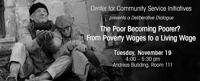 Deliberative Dialogue Series – The Poor Becoming Poorer? From Poverty Wages to a Living Wage
