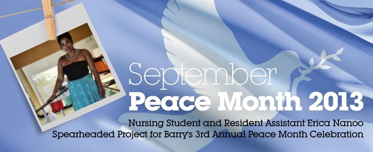 Barry University Celebrates Peace Month