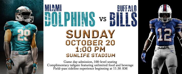"""Barry University Day"" tailgate at the Miami Dolphins vs Buffalo Bills game on 10/20"