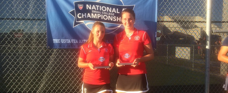 Women's Tennis' Onila, Fritschken Small College Champs