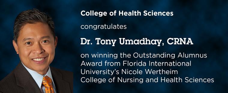 Dr. Tony Umadhay named Outstanding Alumnus