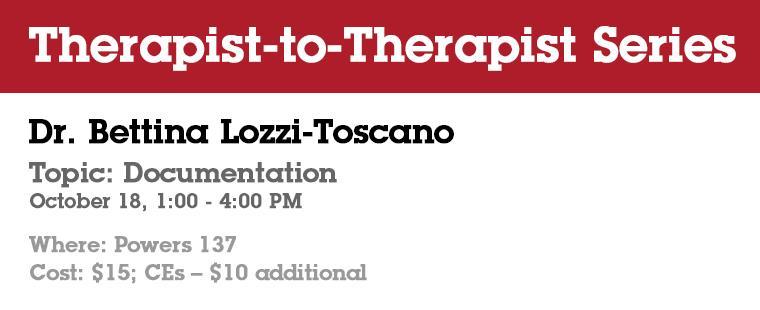 Therapist-to-Therapist Series: Documentation