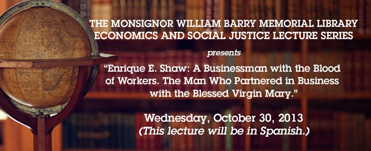 Economics and Social Justice Lecture Series