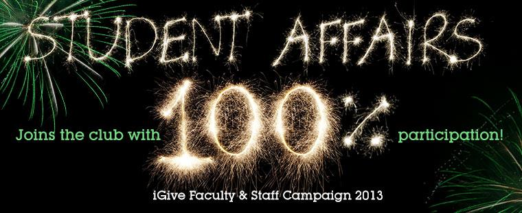 Student Affairs joins the club with 100%