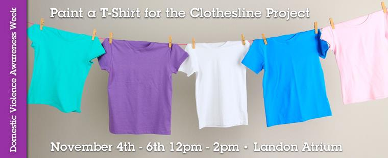 Domestic Violence Awareness Month – Clothesline Project