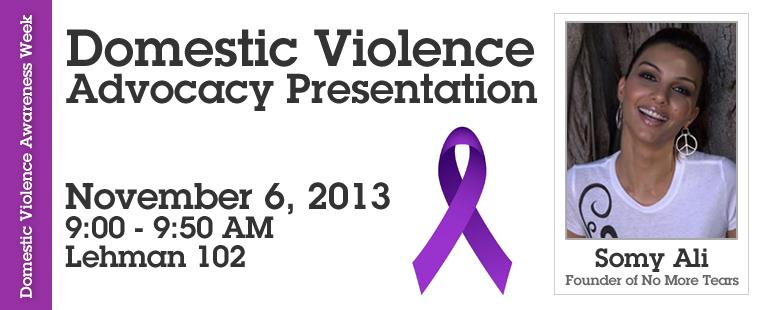 Domestic Violence Awareness Month – Domestic Violence Advocacy Presentation