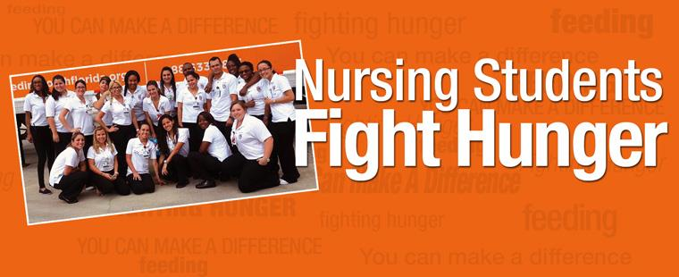 Barry nursing students help feed the hungry