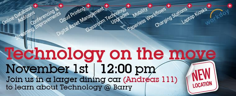 Technology on the move @ BarryU