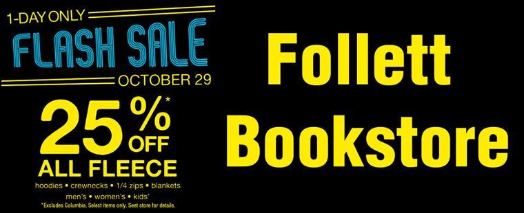 Follett Book Store Flash Sale