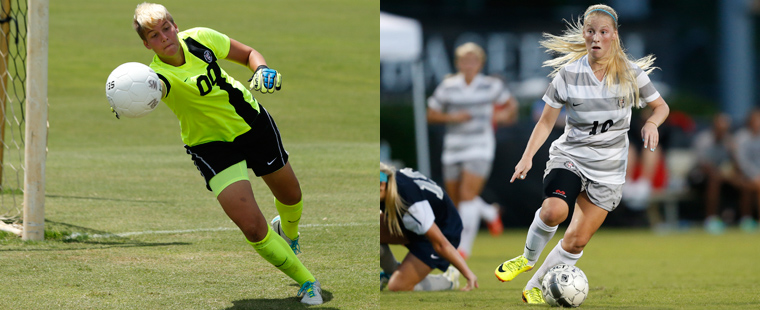 Manna and Rogers Sweep Women's Soccer Players of the Week