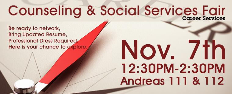 Counseling & Social Services FAIR