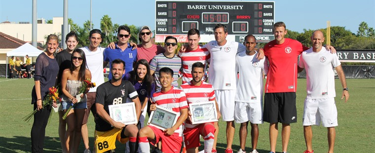 Men's Soccer Rolls Past Tritons On Senior Night