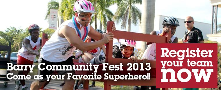 Barry Community Fest 2013:  Come as your Favorite Superhero!!!!!
