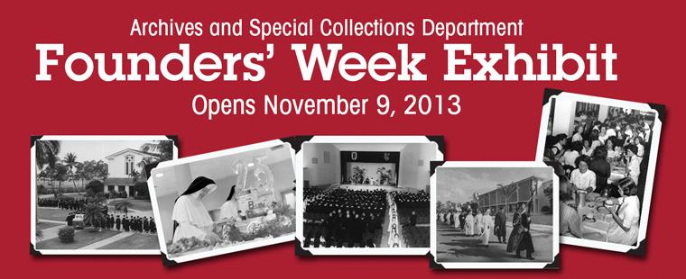 Archives and Special Collections Department hosts Founders' Week Exhibit