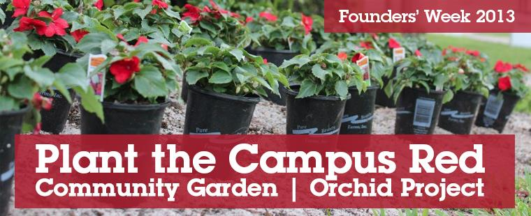 Plant the Campus Red | Community Garden | Orchid Project