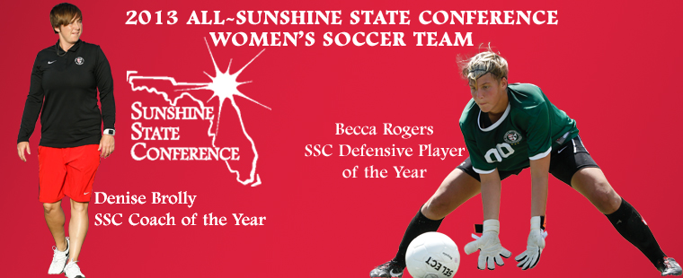 Brolly and Rogers Lead Six Bucs On All-SSC Women's Soccer Team