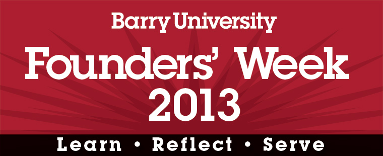 Founders' Week 2013 Schedule of Events