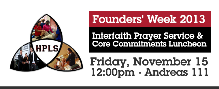 Interfaith Prayer Service and Core Commitments Luncheon