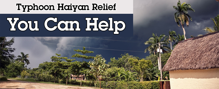Typhoon Haiyan Relief: You Can Help!