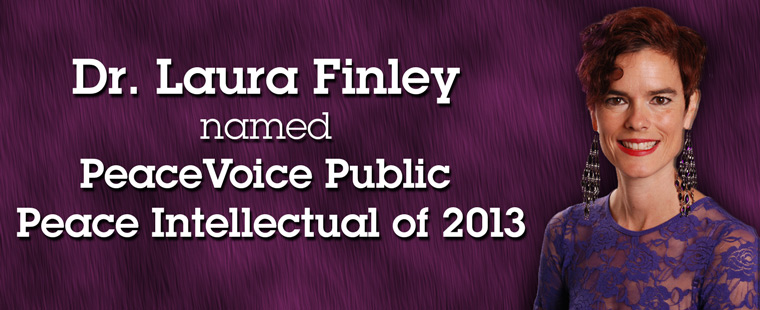 Dr. Laura Finley named PeaceVoice Public Peace Intellectual of 2013