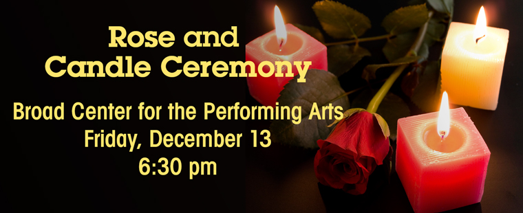 Commencement December 2013: Rose and Candle Ceremony