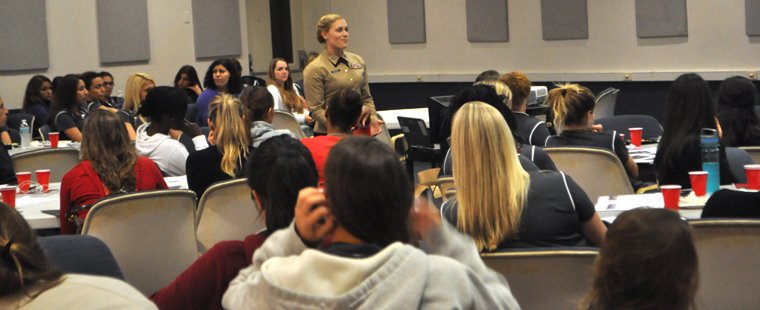 Marines Host Leadership Seminar For Women At Barry University