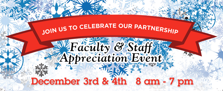 Faculty & Staff Appreciation Event