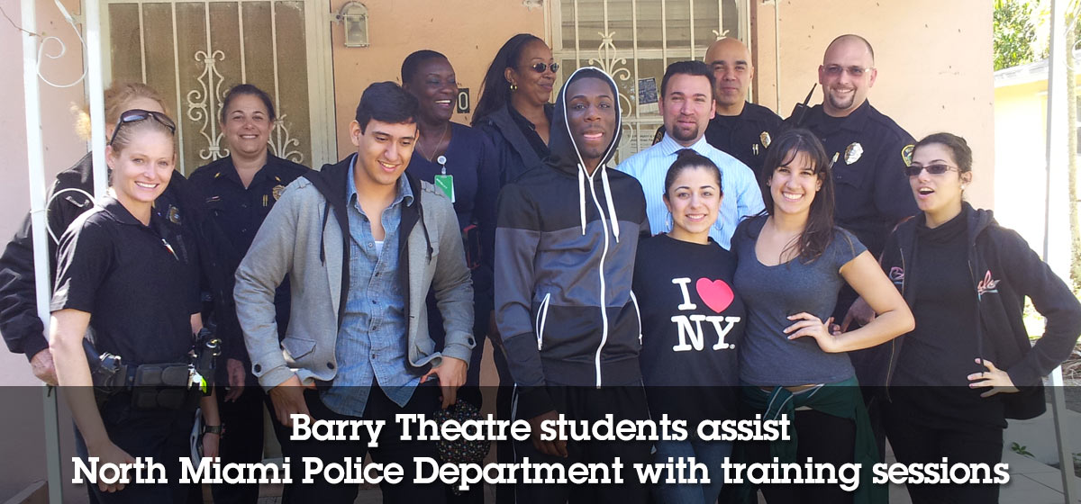 Barry Theatre students assist North Miami Police Department with training sessions