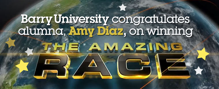 Barry University congratulates alumna, Amy Diaz, on winning The Amazing Race
