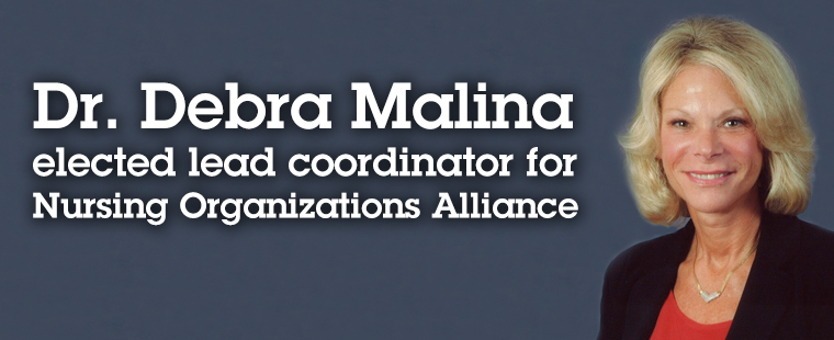 Dr. Debra Malina elected lead coordinator for Nursing Organizations Alliance