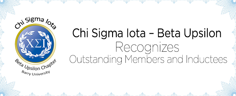 Chi Sigma Iota – Beta Upsilon Recognizes Outstanding Members and Inductees