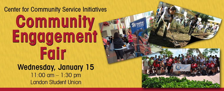 Join the Center for Community Service Initiatives for the Spring 2014