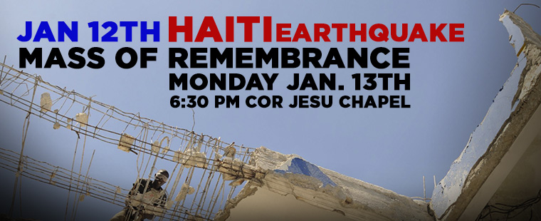 Haiti Earthquake Mass in Remembrance