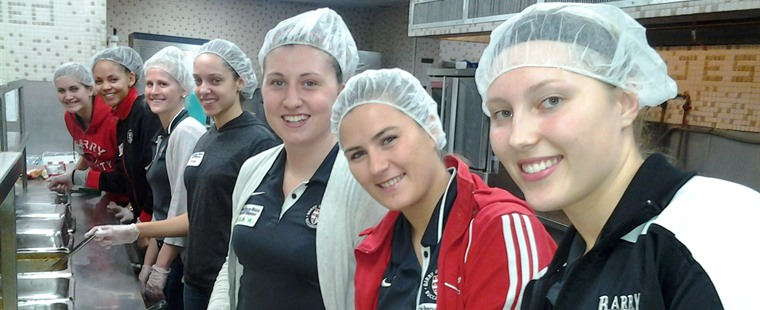 Women's Basketball Volunteers at Miami Rescue Mission