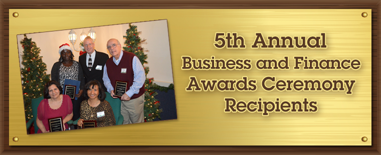 5th Annual Business and Finance Awards Ceremony Recipients
