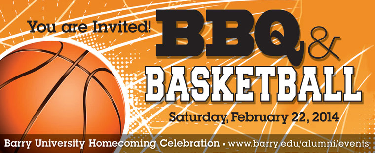 BBQ and Basketball - Barry University  Homecoming Celebration 2014