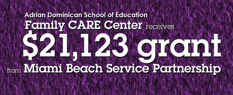 Family Care Center receives $21,123 grant from Miami Beach Service Partnership