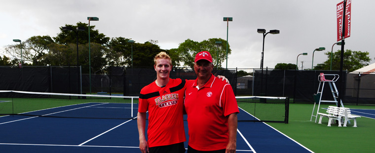 Men's Tennis Spoils Hipp's Return
