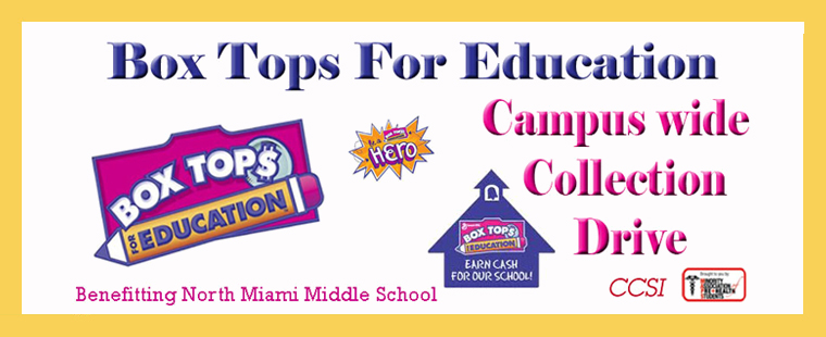 MAPS and CCSI Announce Box Tops for Education Collection Drive