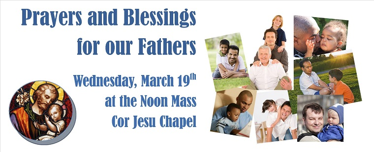 Prayers and Blessings for our Fathers at Mass
