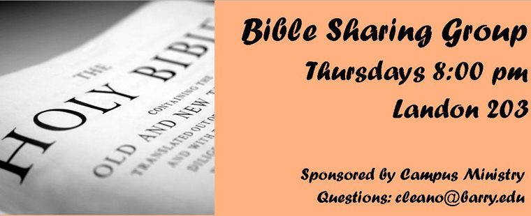 Bible Sharing Group—Sharing the Word