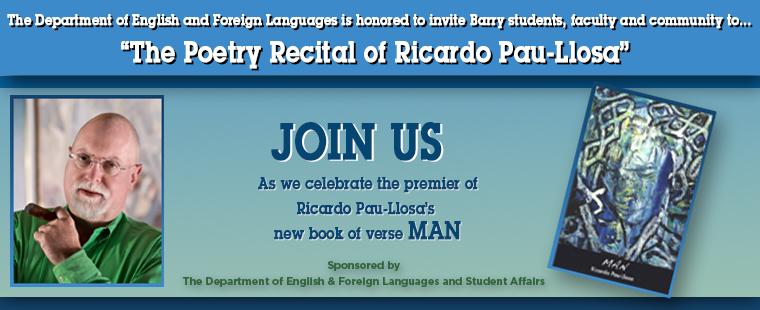 """The Poetry Recital of Ricardo Pau-Llosa"""