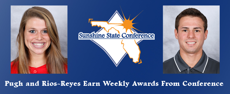 Pugh and Rios-Reyes Earn Weekly Awards From Conference