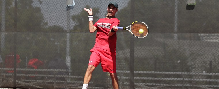 Men's Tennis Tames Lions, 8-1