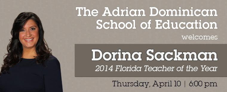 Dorina Sackman: 2014 Florida Teacher of the Year