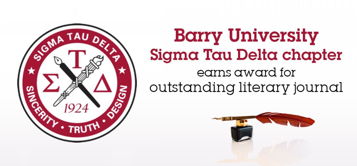 Barry Sigma Tau Delta chapter earns award for outstanding literary journal